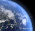 Cinema 4Dで制作した地球のイラスト