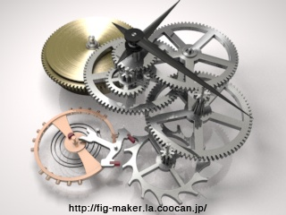 時計の歯車のアニメーション